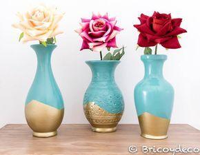 Gracias a la pintura en spray podrás reciclar jarrones de cerámica y darles un aspecto renovado de forma rápida, económica y sencilla.
