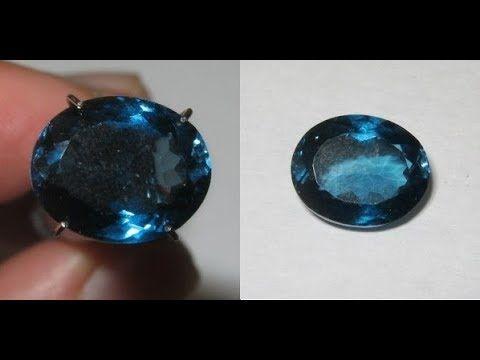 Permata Topaz Warna London Blue, Oval 5.17 carat