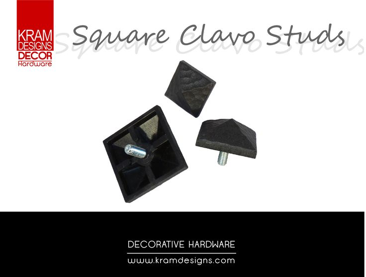 The Square Clavo collection from Kram Designs Decor Hardware. www.kramdesigns.co.za