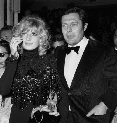 Monica Vitti & Marcello Mastroianni.  Cannes Film Festival,1967