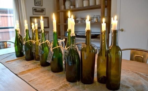 8 Diy Recycled Glass Bottle Candles Weinflasche Kerzenhalter