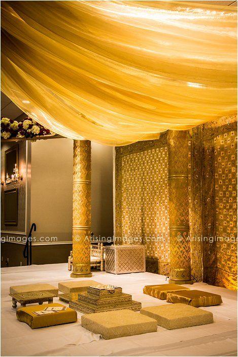 Gorgeous gold Indian wedding ceremony details. #indian #wedding #ideas