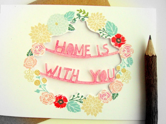 Home is with you Card