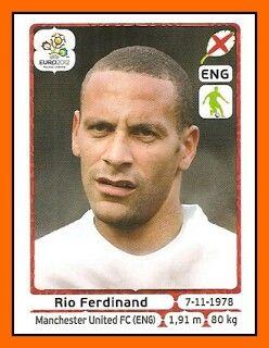 Rio Ferdinand of England. Euro 2012 card.
