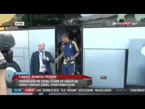 Fenerbahçe Futbol Takımı Atromitos Stadı'nda   20 Ağustos 2015 - YouTube