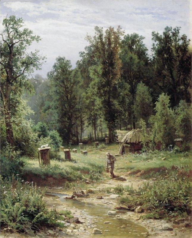 Bee families in the forest - Ivan Shishkin