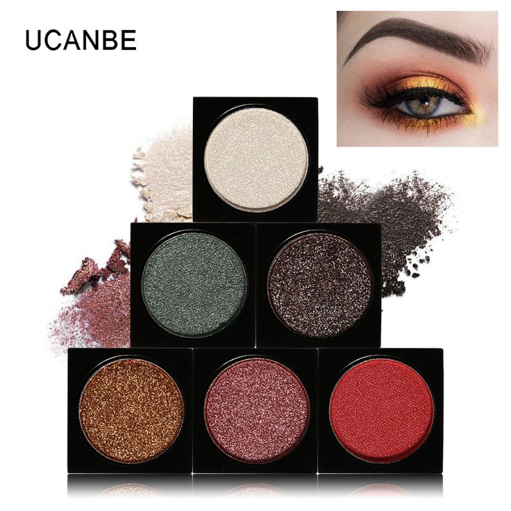UCANBE DIY Single Shimmer Iridescent Duochrome Eyeshadow Palette Warm Naked Mermaid Glitter Makeup Smoky 3D Sparkle. Click visit to buy #EyeShadow