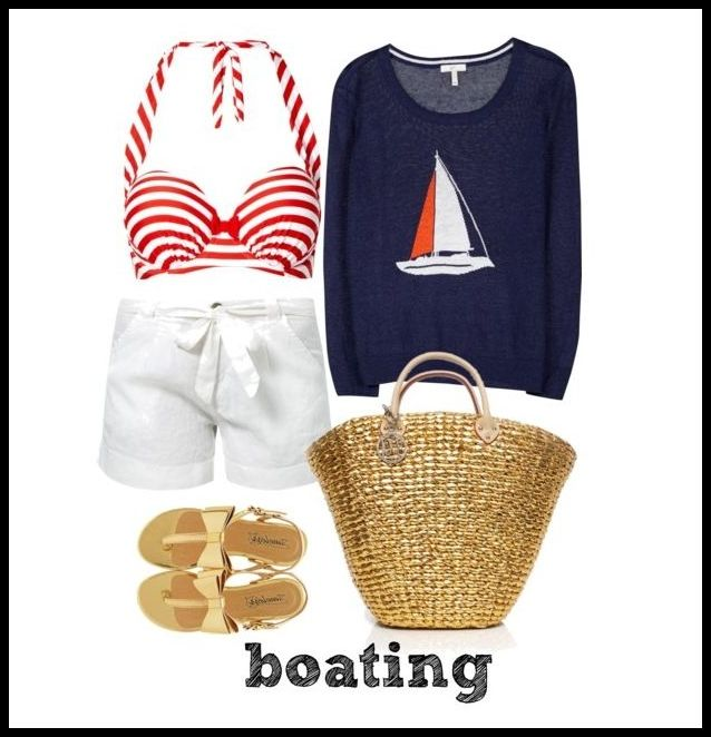Fourth of July outfit for a day on the boat