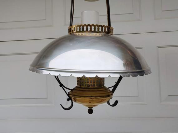 Mid Century Colonial Lamp Underwriters Laboratories Ceiling Light Fixture Early American Light Silver Gold Tone Metal Dome Lantern 1950 Ceiling Light Fixtures Colonial Lamp Ceiling Lights
