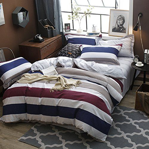Ammybeddings King Size Duvet Cover Sets Green,Luxury Galaxy Bedding,1 Bed Sheet,1 Quilt/Comforter Cover King and 2 Pillow Shams,4 Piece Soft 3D Bedding Sets Queen/Full/Twin (King, stripe1)