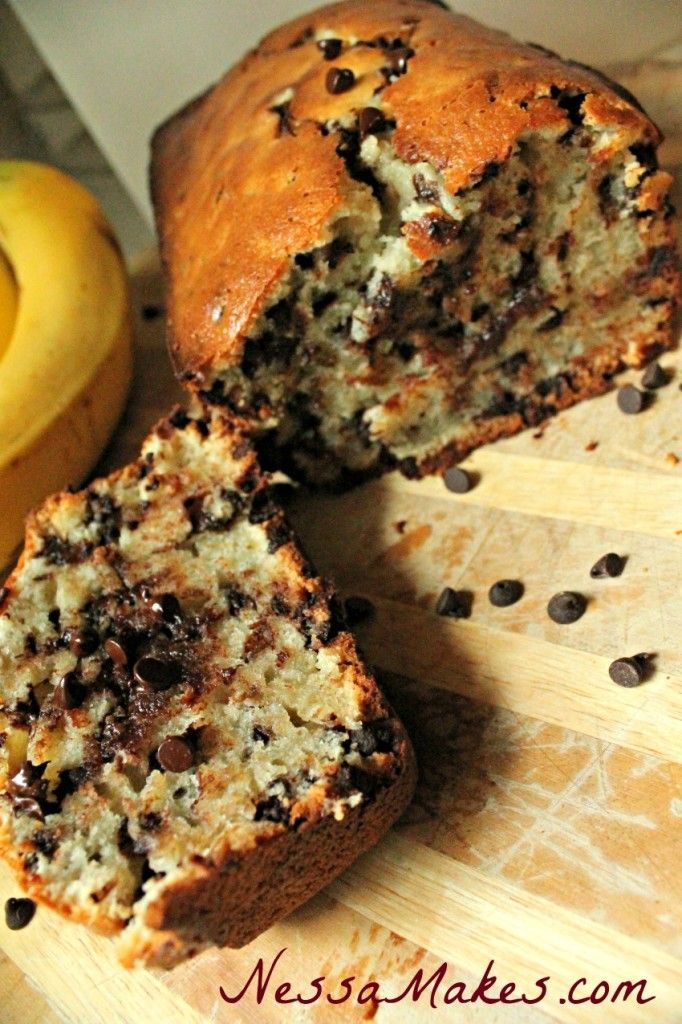 Chocolate Chip Banana Bread vertical