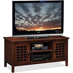 Top Product Reviews for Chocolate/Black Glass 50-inch TV Stand & Media Console - Overstock.com - Mobile