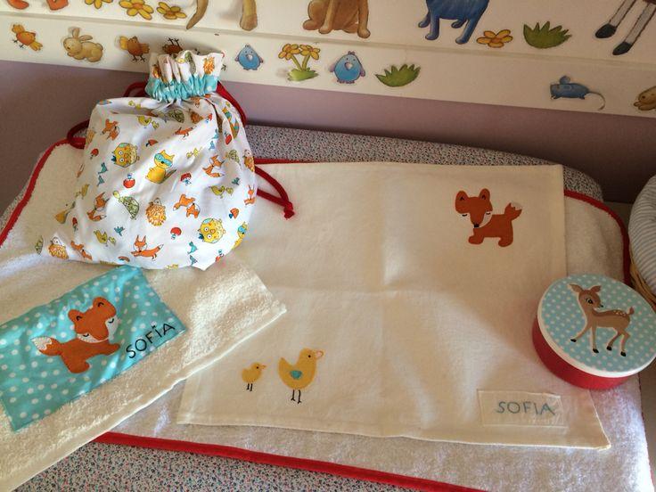 ¡Vamos al cole! Mantel individual, toalla y bolsa para el almuerzo