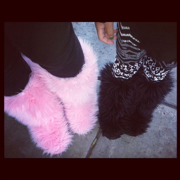 | Pink & Black Fur Slipper Boots | Can you have to many Monster Boots!?!? No..