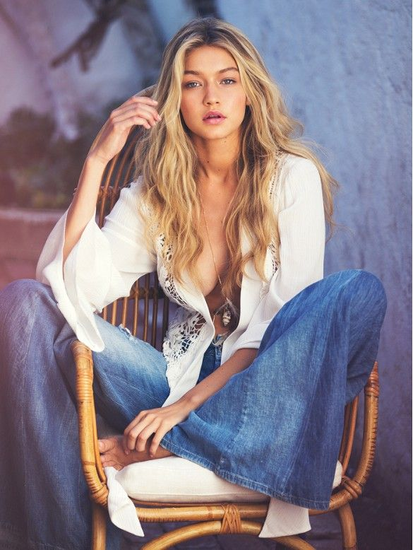 Gigi Hadid looks like a boho babe in this Guess S/S 15 Ad Campaign