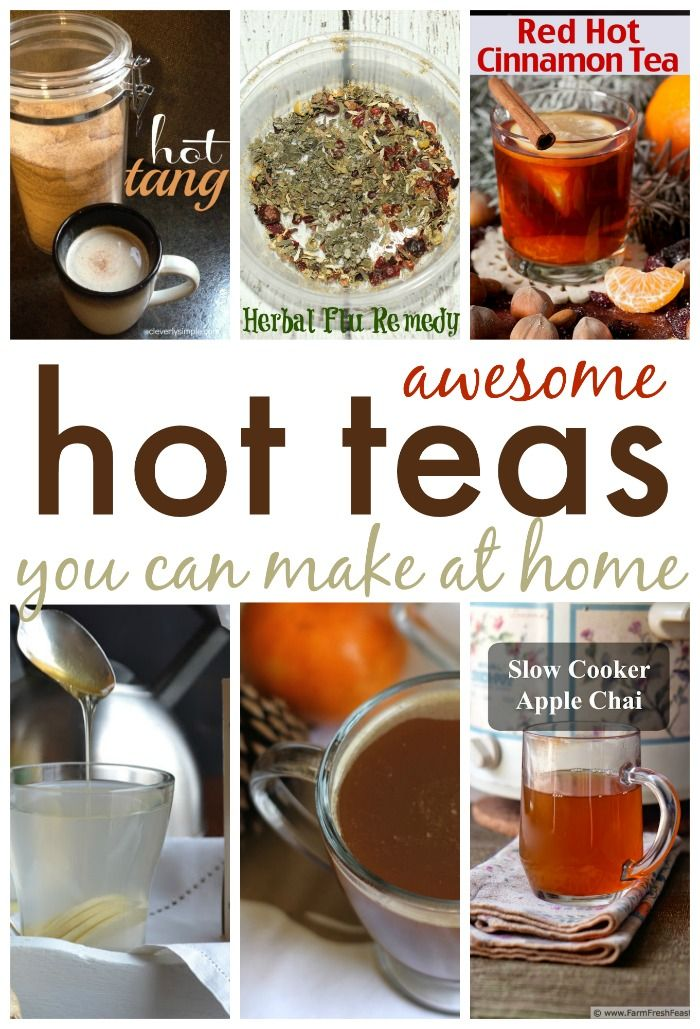 Are you ready to warm up?  Check out these hot teas that will do just that while giving you a unique drink!  The list includes our family favorite, hot tang!