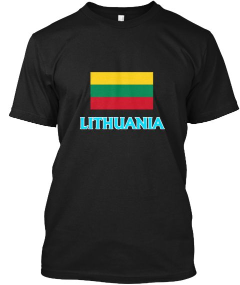 Lithuania Flag Classic Blue Design Black T-Shirt Front - This is the perfect gift for someone who loves Lithuanian. Thank you for visiting my page (Related terms: I Heart Lithuania,Lithuania,Lithuanian,Lithuania Travel,I Love My Country,Lithuania Flag, Lithuania  #Lithuanian, #Lithuanianshirts...)