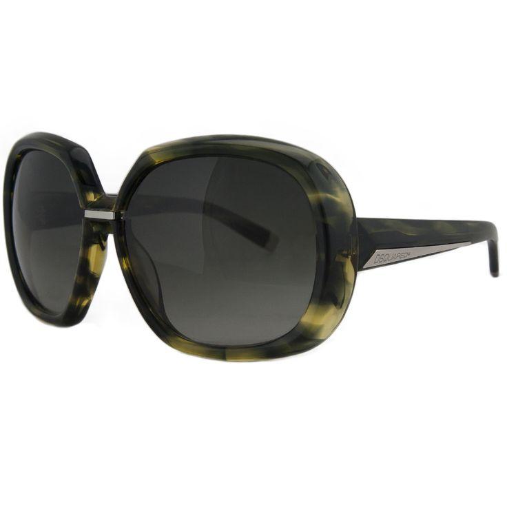 DSquared DQ 0050/S 95B Green Tortoise Oversized Square Full Rim Sunglasses