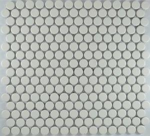 Product ID:MCP501 3/4X3/4 Penny Round White Matte #Profiletile