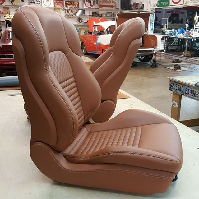 55 chevy showbox seats hyundai tiburon custom brown door panels wrap