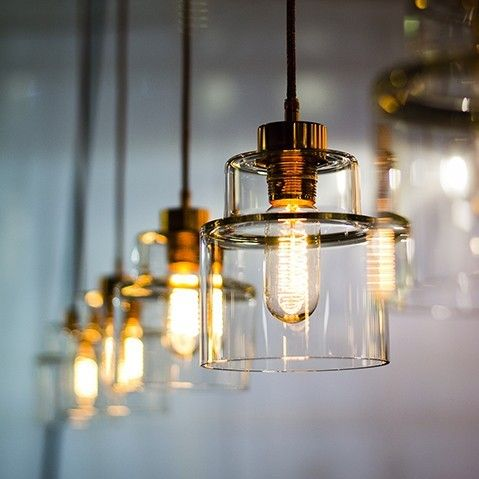 We think it's perfectly transparent: there's a clear trend developing in lighting. Industrial forms are reimagined; contemporary design in glass works too.