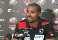Three years ago, Jason Holmes had never heard of Australian football, let alone seen a game. This Saturday night, he will make his AFL debut for St Kilda.