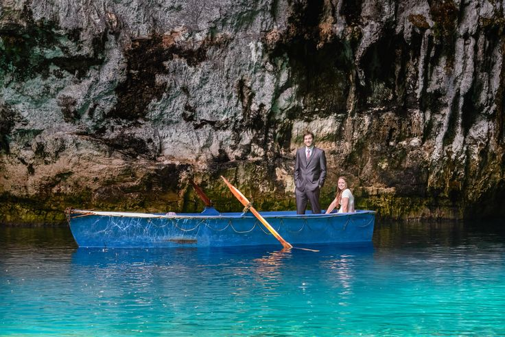 Wedding photography@Melissani cave lake, Kefalonia. Odyssey hotel weddings