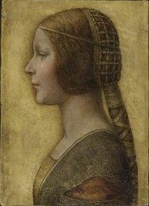 1490 Leonardo da Vinci portrait of Beatrice d'Este, Duchess of Milan