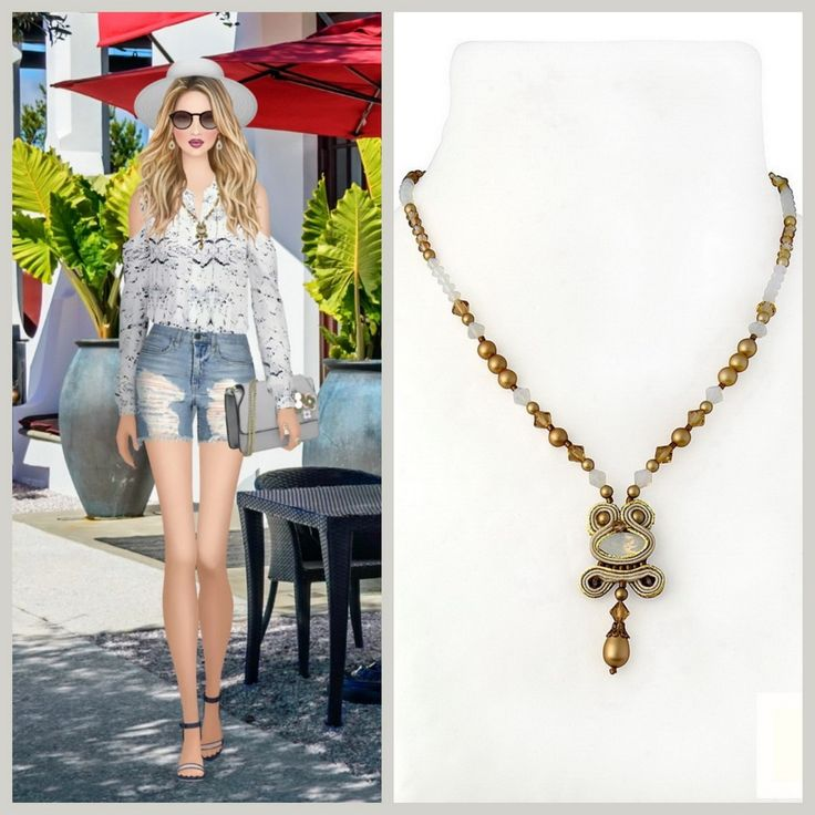 Our glam-and-go necklace as seen on Covet Fashion   #doricsengeri #covetfashion #delicatenecklace #neutralcolors #necklace #gotonecklace #everydaynecklace