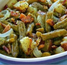Country Ranch Green Beans 'n Potatoes with Bacon
