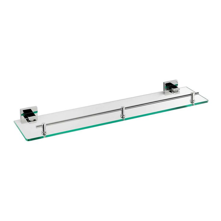Cubik Glass Shelf - like this - the chrome will look good with the rest of the bathroom