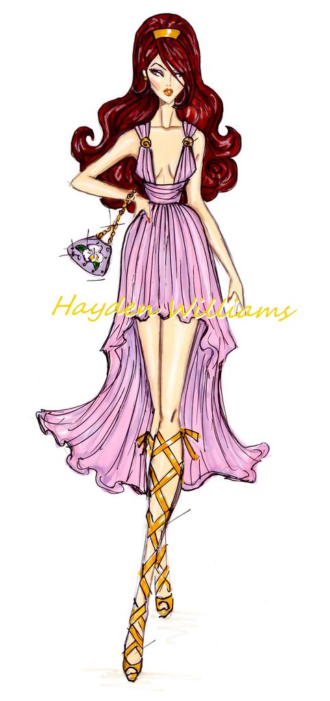 Hayden Williams Disney Divas | Hayden Williams Fashion Illustrations | The Disney Divas collection by ...