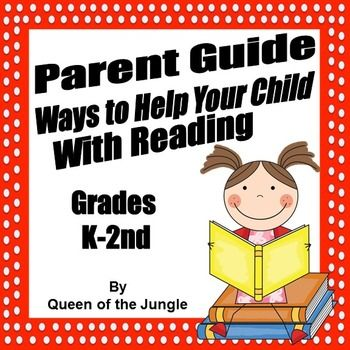 Send this handout home with parents to give them ways to help their child with Reading at home. Includes monthly reading log.