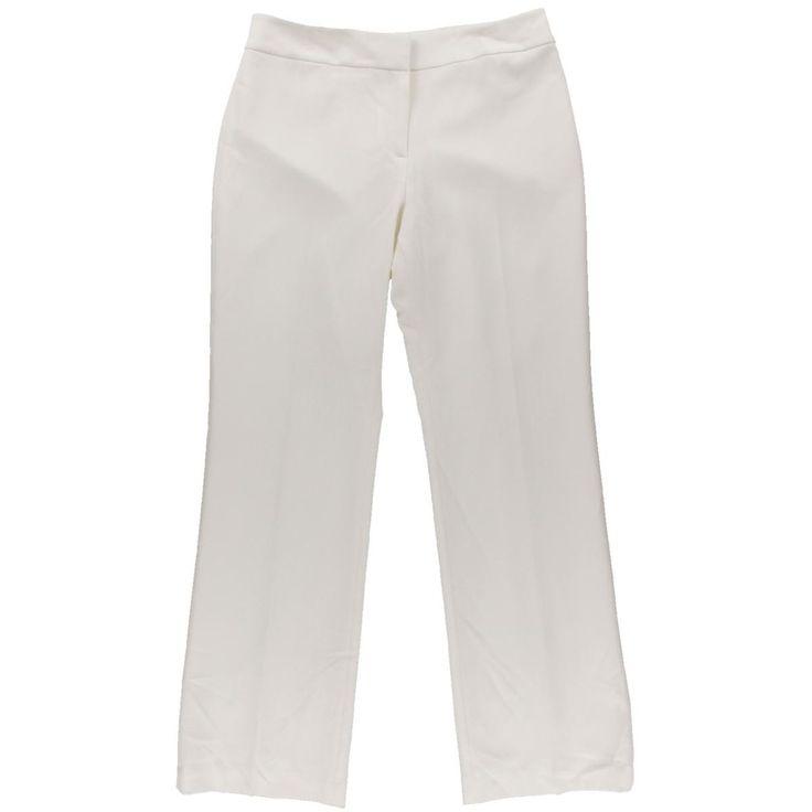 Kasper Womens Curvy Fit Crepe Pants