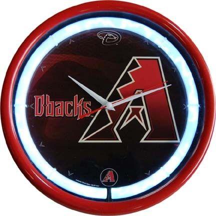 Arizona Diamondbacks Plasma Neon Clock