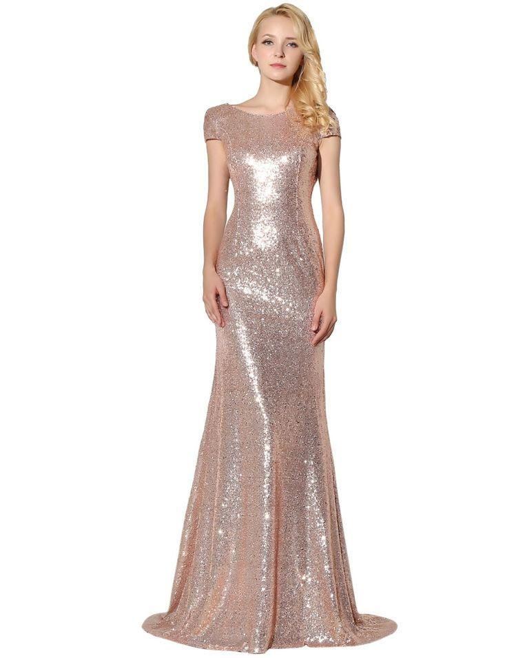 H007แชมเปญเลื่อมชุดเพื่อนเจ้าสาว2017 vestido deเฟสต้าลองโกเมอร์เมดพรรคชุดแต่งงานประกวดอย่างเป็นทางการเสื้อคลุมเดso
