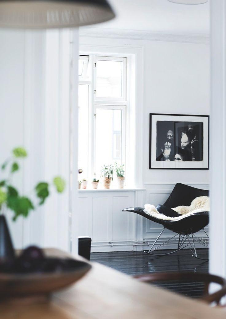 Cozy reading corner featuring Thomas Pedersens Stingray Chair.