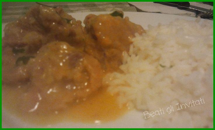 Beati gli Invitati: Spezzatino di vitello al curry con riso basmati