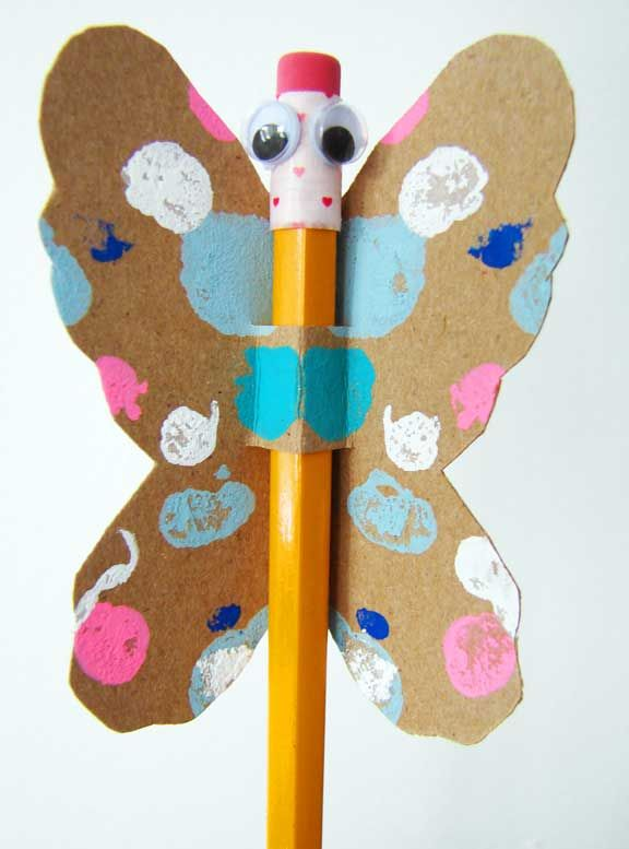 Pencil Butterfly valentine DIY  {aesthetic outburst}