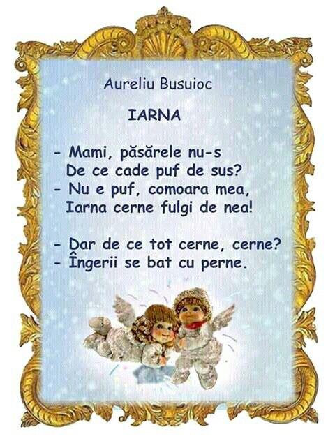 Iarna poezie copii