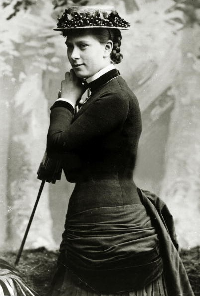 Princess Mary of Teck, (1867-1953) who was to become Queen Mary the Queen Consort of King George V, pictured when she was 20 years of age, ca. 1887.