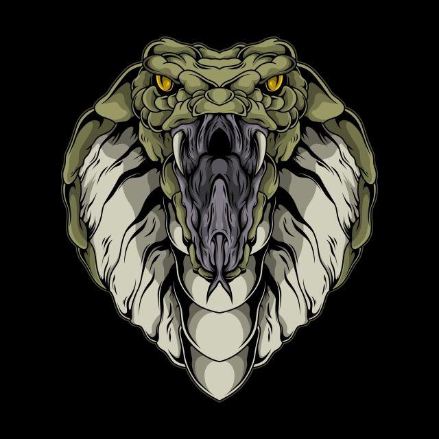 The King Cobra Illustration Snake Clipart Animal Art Png And Vector With Transparent Background For Free Download Ilustrator Ilustrasi Seni Gelap
