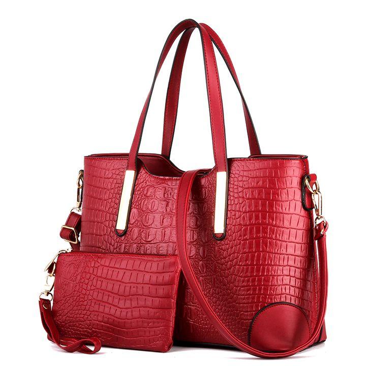 21$ ONLY!!   Купить 2 шт./компл. Женщины Сумка роскошные сумки модный бренд дизайнеры сумка сумки crossbody крокодил кожа PU сумочкаи другие товары категории Сумки с короткими ручкамив магазине Shenzhen Idea Fashion Bags Co., LtdнаAliExpress. сумки сумки для продажи и мешок сэндвич