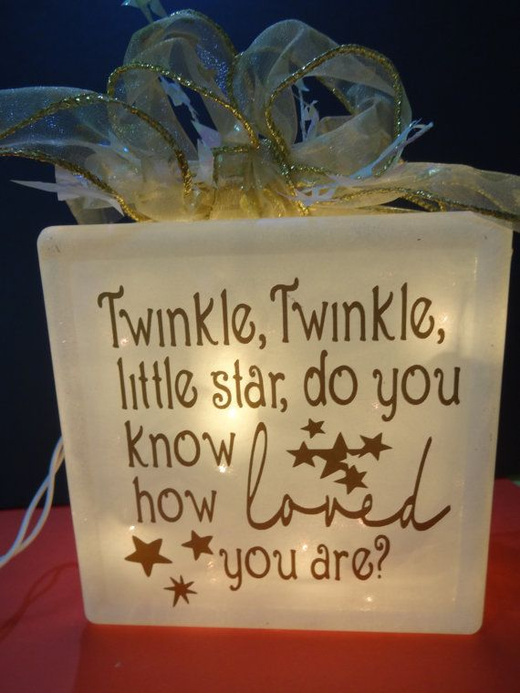 Decorated Glass Block for that Special Little by CreatedbyLenore, $22.00
