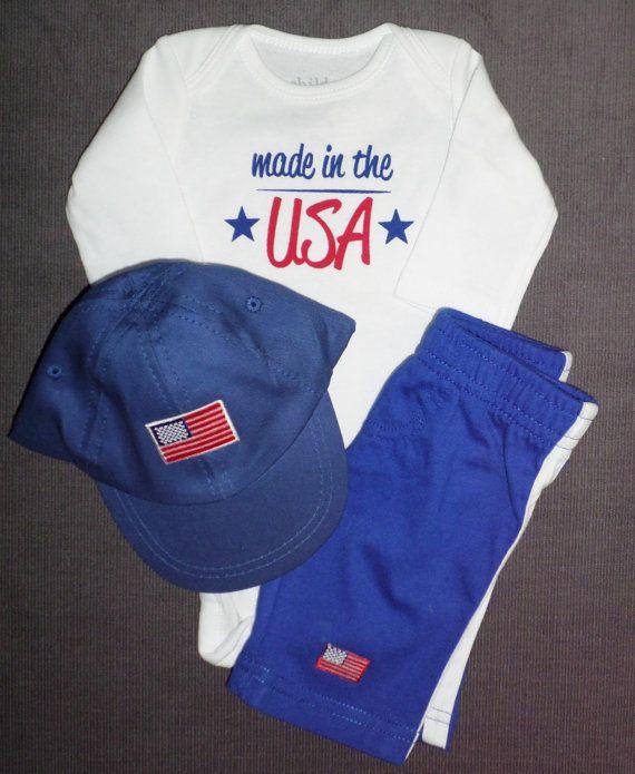 Newborn Baby Bodysuit Set  Made In USA  Newborn by SugarBearHair