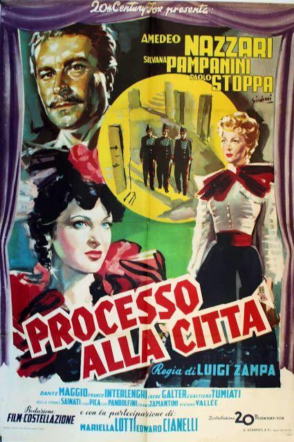 """""""Processo alla città"""" (1952) Country: Italy. Director: Luigi Zampa. Cast: Amedeo…"""