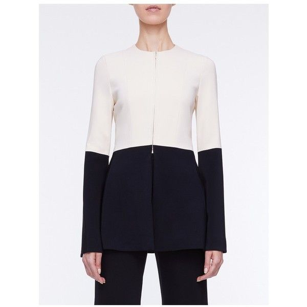 Rosetta Getty Fitted Bell Sleeve Jacket ($1,580) ❤ liked on Polyvore featuring outerwear, jackets, black, evening, slim jacket, evening jackets, fitted jacket, bell sleeve jacket and slim fit jackets