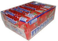 Mentos - Strawberry, by Perfetti Van Melle,  and more Confectionery at The Professors Online Lolly Shop. (Image Number :4533)