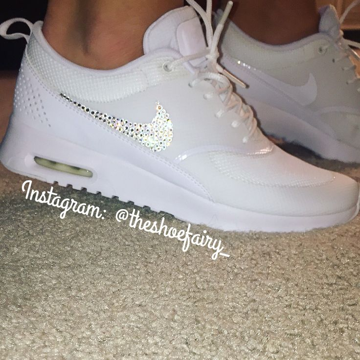 Custom Nike AIR MAX THEA with Over 150 Swarovski Elements BLING gift idea  holiday gifts DIY