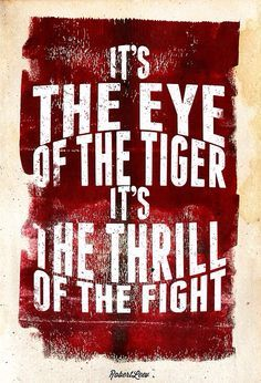 drawings of the song eye of the tiger - Google Search